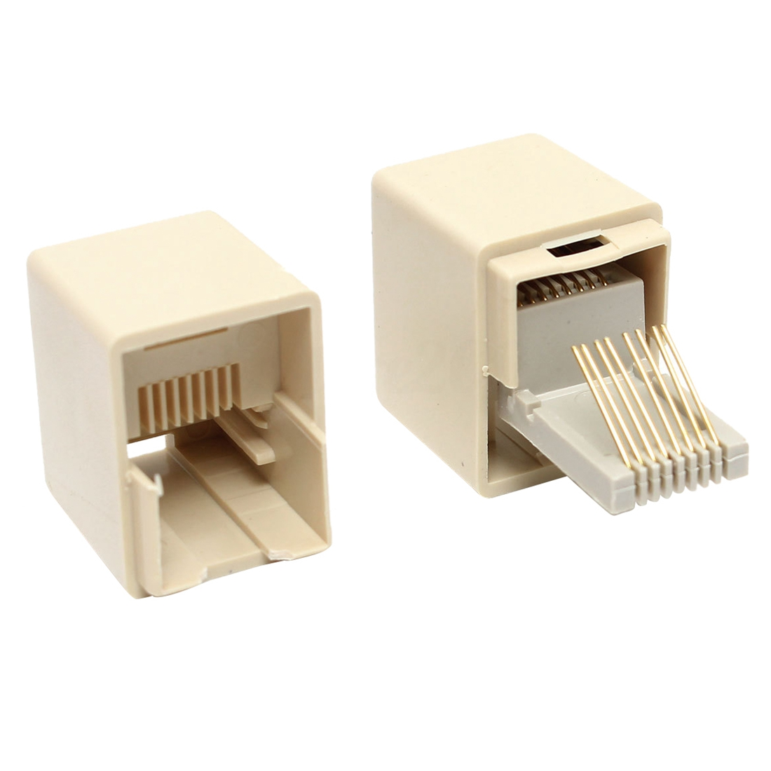 10pcs Rj45 Cat5e Straight Network Cable Ethernet Lan Coupler Through This Allows Two Cables With Connectors To Be Connected Together So That The Signal Will Pass