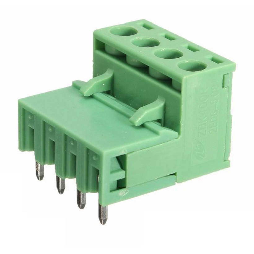 10x 2EDG 4Pin 5.08mm Pitch Plug-in Screw Terminal Block Connector Right Ang T6T5