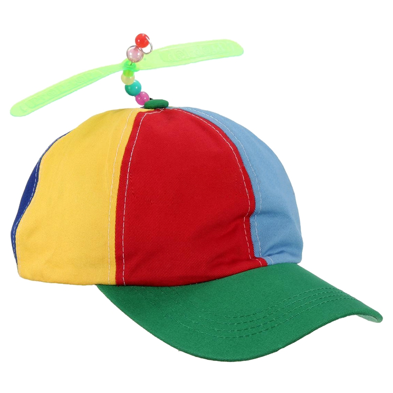 08c94799e9a Image is loading 2X-Adjustable-Propeller-Beanie-Ball-Cap-Hat-Multi-