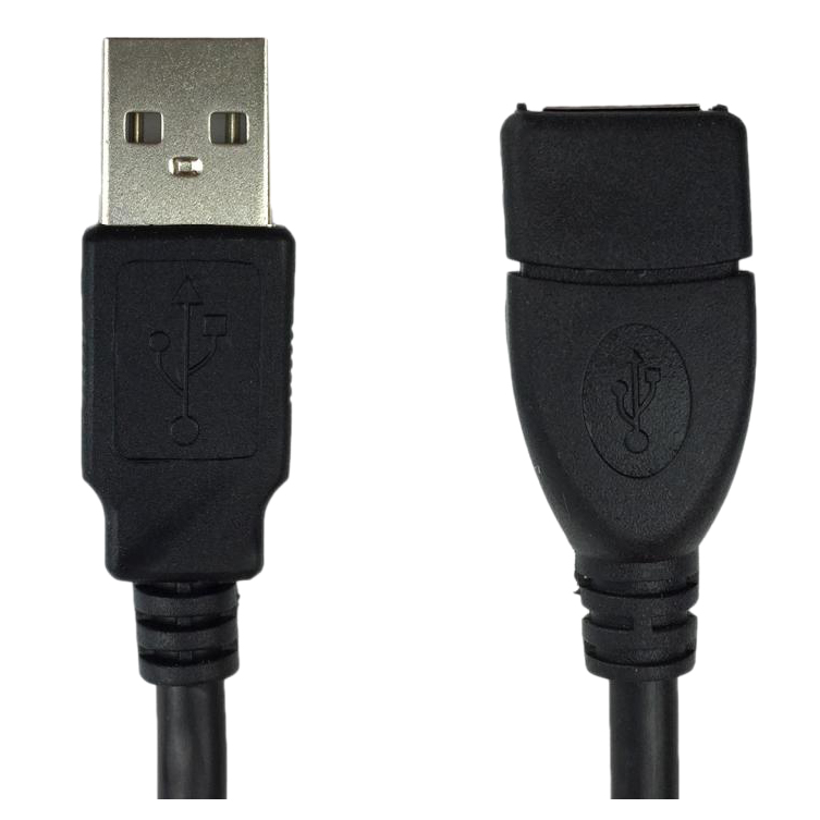 USB-Extension-Data-Cable-2-0-A-Male-to-A-Female-Long-Cord-for-Computer-3-me-7E5 thumbnail 5
