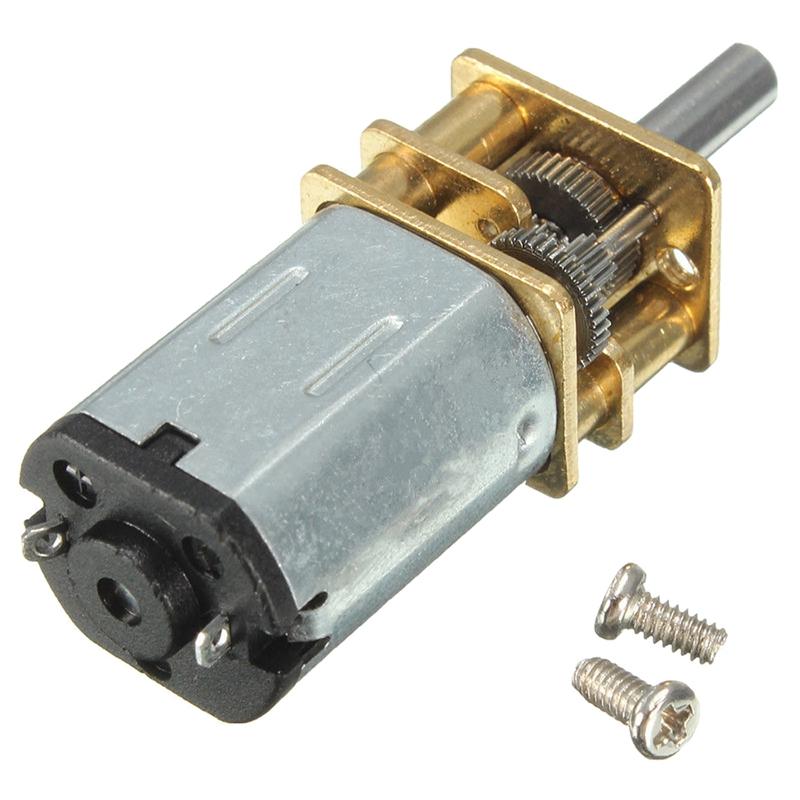 6//12V 300//600//30RPM Mini DC Metall Getriebemotor mitZahnrad Wellendurchmesser
