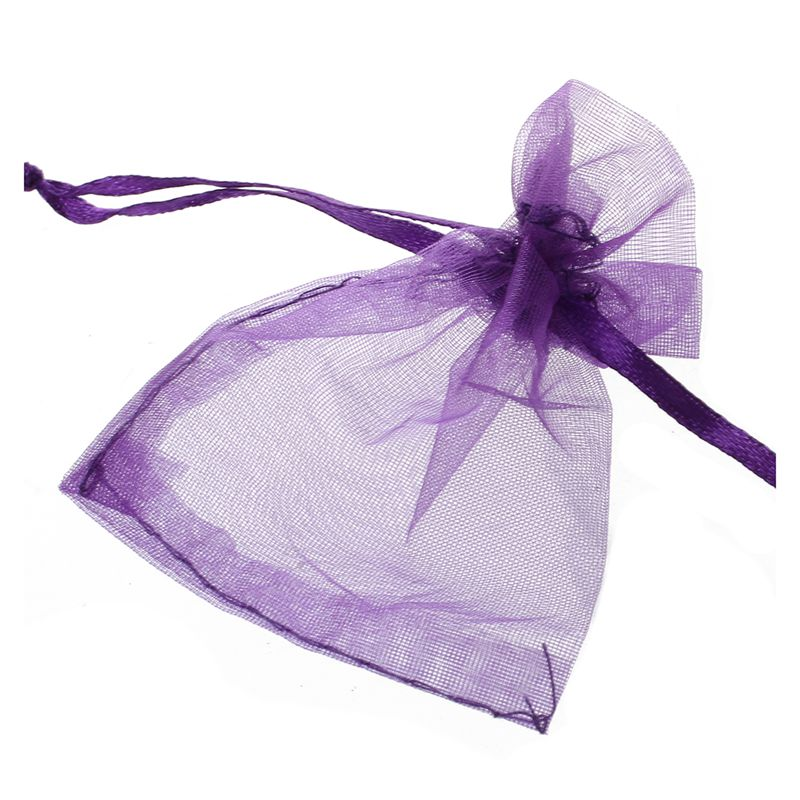 Image Is Loading 100 Pcs Organza Wedding Favour Bags Jewellery Pouches