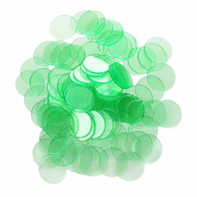 2X-100pcs-Klare-Kunststoff-Bingo-Chips-1-9-Cm-E8T4 Indexbild 3