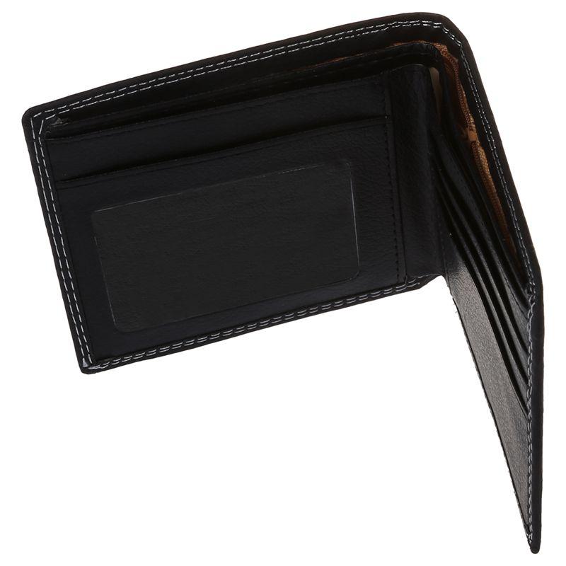 Men-Luxury-Leather-Card-Cash-Receipt-Holder-Organizer-Bifold-Wallet-Coin-Pu-N9U4 thumbnail 4