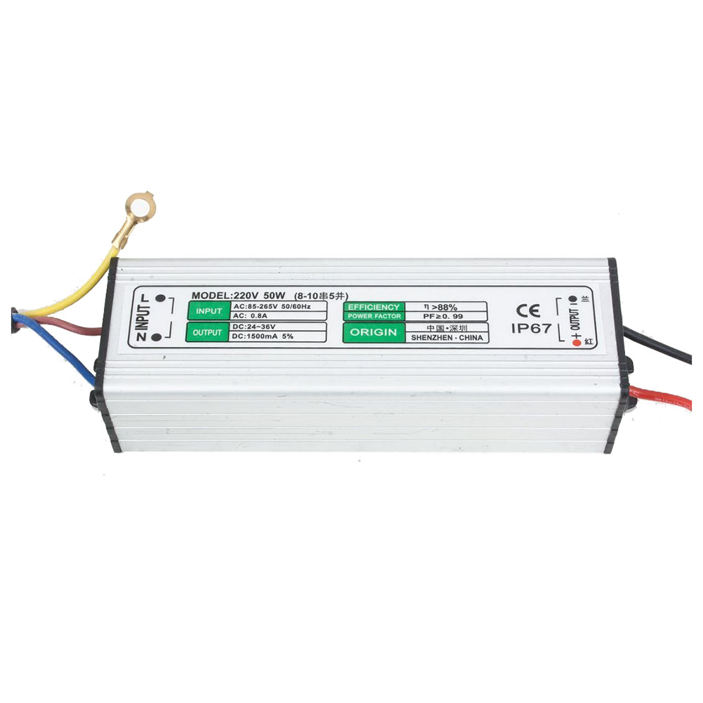 50w Led Driver Power Supply: 50W LED Driver Waterproof IP67 Power Supply High Power