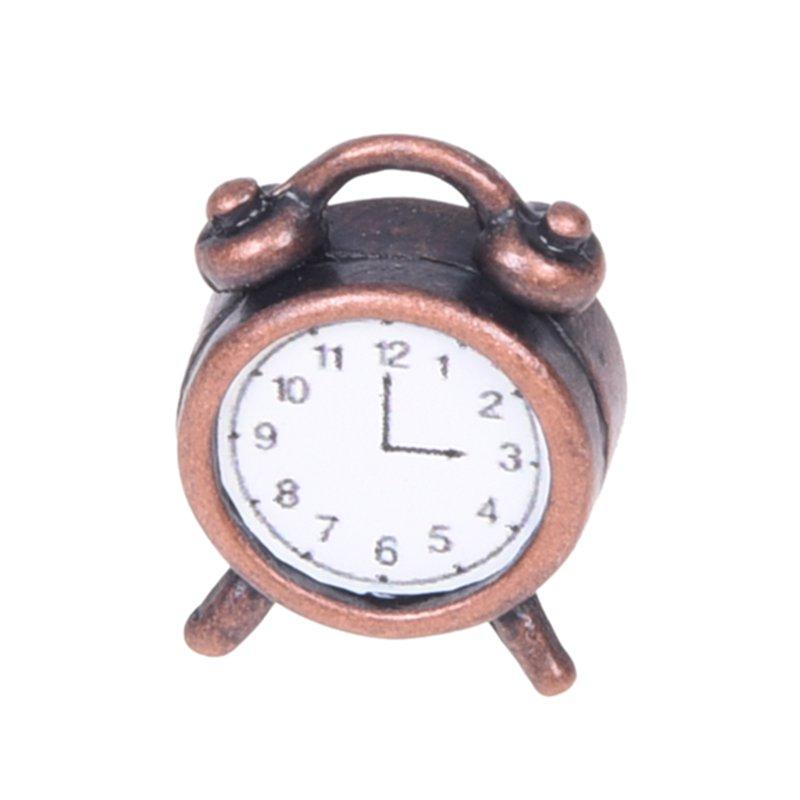 Sale Overall Discount 50-70% 2x 1/12 Maison De Poupee Miniature Salon Un Reveil De Metal T6d7