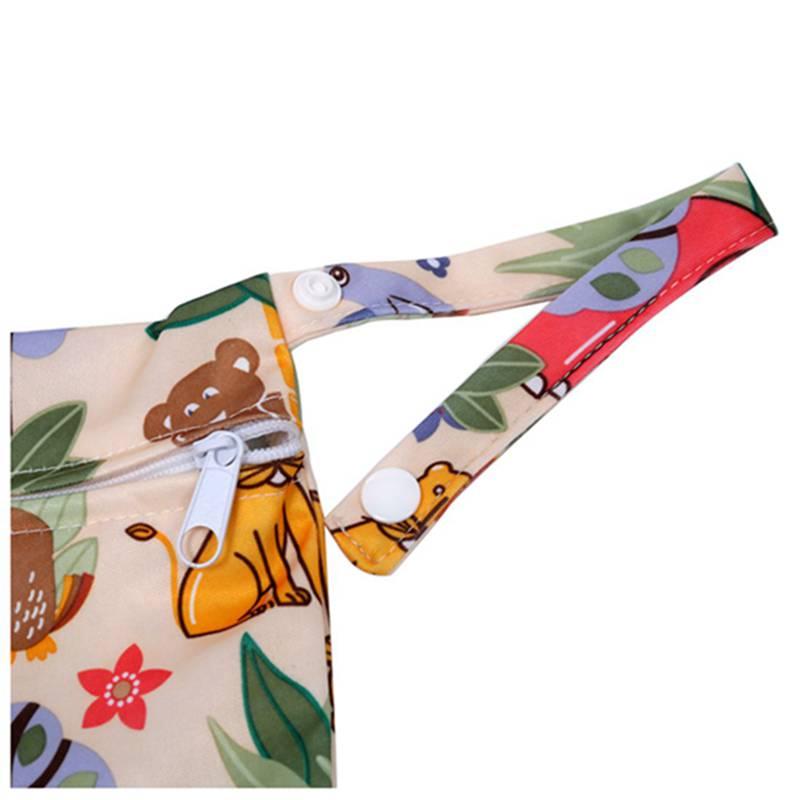 Sac-a-couches-lavables-etanche-zippe-Colorful-Owl-Pattern-Pink-Y4M2-92 miniature 11