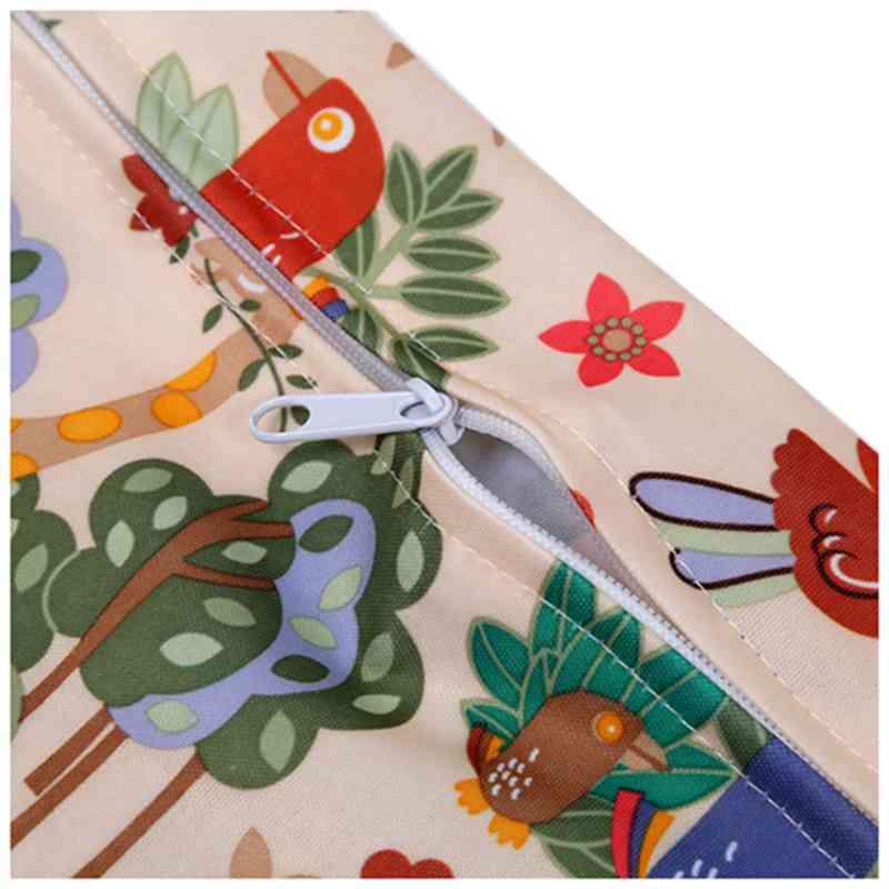 Sac-a-couches-lavables-etanche-zippe-Colorful-Owl-Pattern-Pink-Y4M2-92 miniature 12