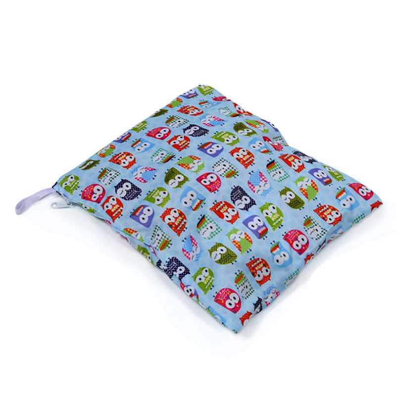 Sac-a-couches-lavables-etanche-zippe-Colorful-Owl-Pattern-Pink-Y4M2-92 miniature 18