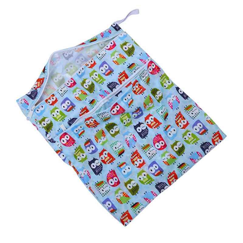 Sac-a-couches-lavables-etanche-zippe-Colorful-Owl-Pattern-Pink-Y4M2-92 miniature 19