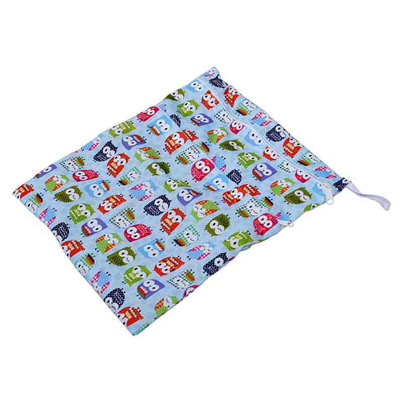 Sac-a-couches-lavables-etanche-zippe-Colorful-Owl-Pattern-Pink-Y4M2-92 miniature 20
