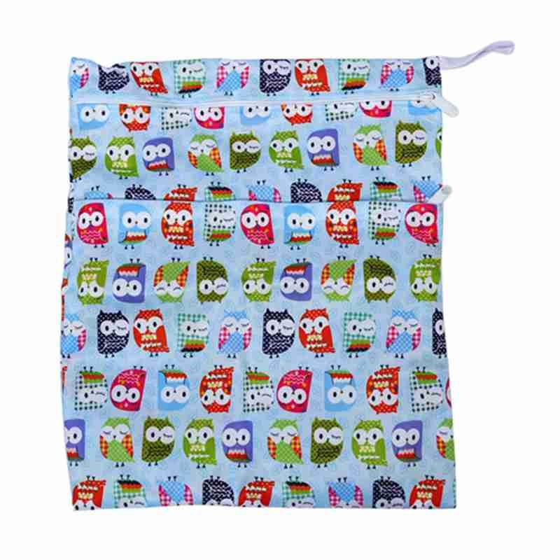 Sac-a-couches-lavables-etanche-zippe-Colorful-Owl-Pattern-Pink-Y4M2-92 miniature 21