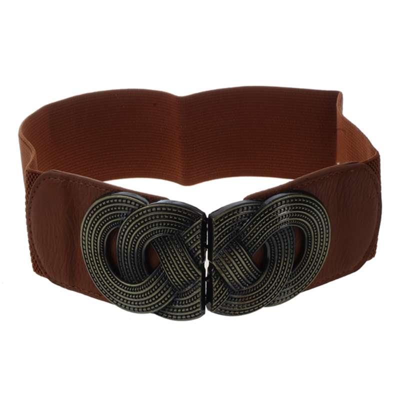 Elastic Metal Knit Belt Wild Decorative Belt Retro Wide Belt Fashion