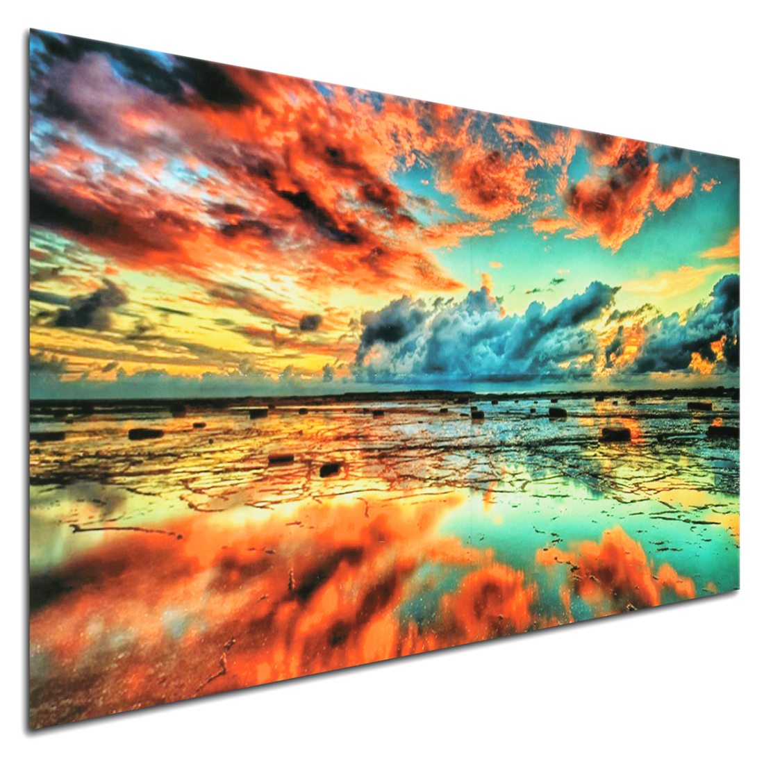 Abstract Trippy Sunset Sea Beach Art Cloth Poster Home ...