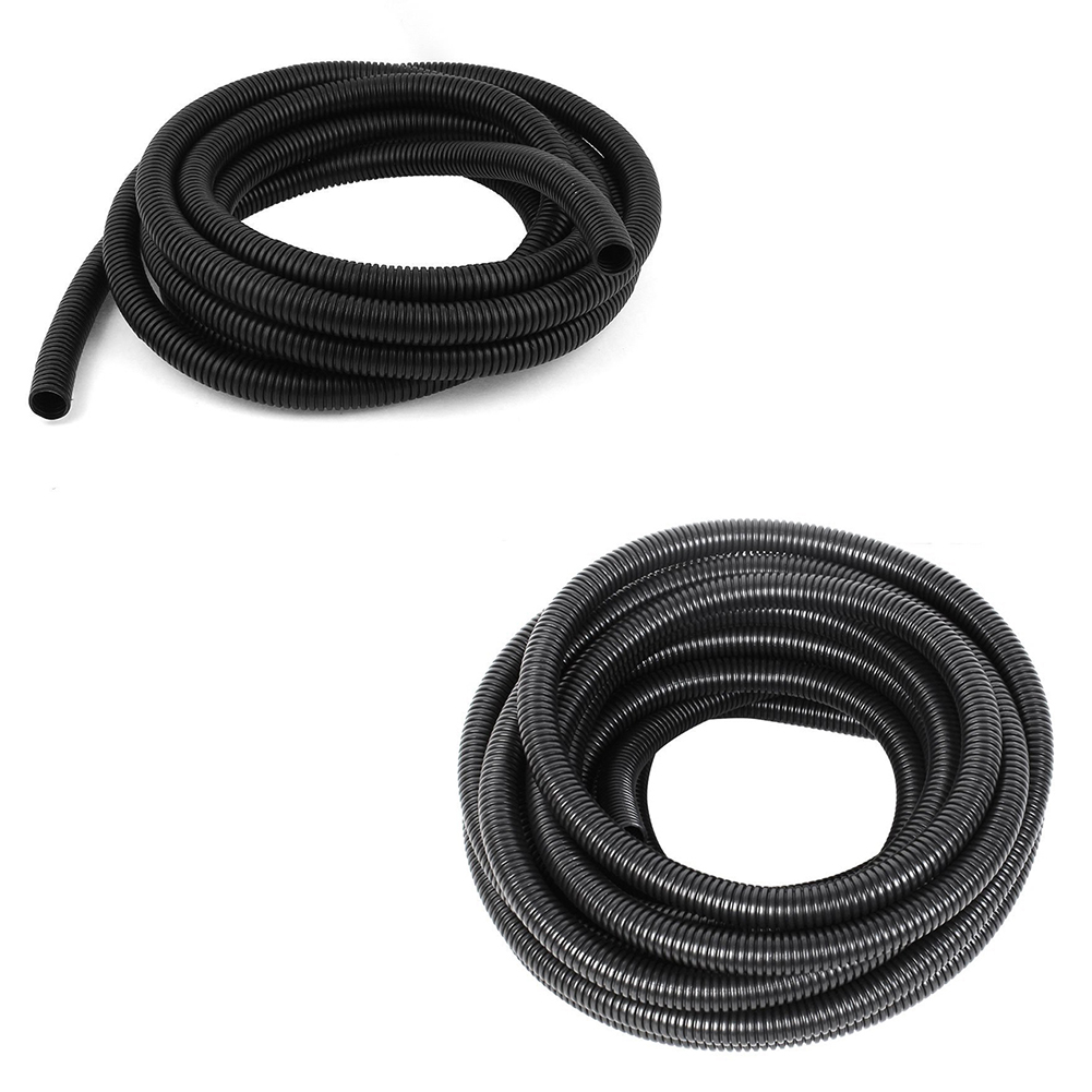 Ss Black Plastic Flexible Bellows Hose Corrugated Conduit Tube Electrical Wire Buy Also In Office Or Home To Hide Your Speaker Wires Phone Etc