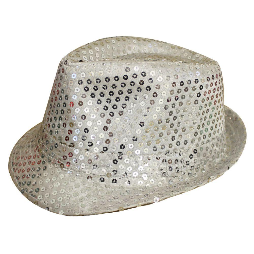 Sequin Trilby Hat Top Hat Fancy Dress Party Hen Stag Night Dance ... 1cc6af6233c5