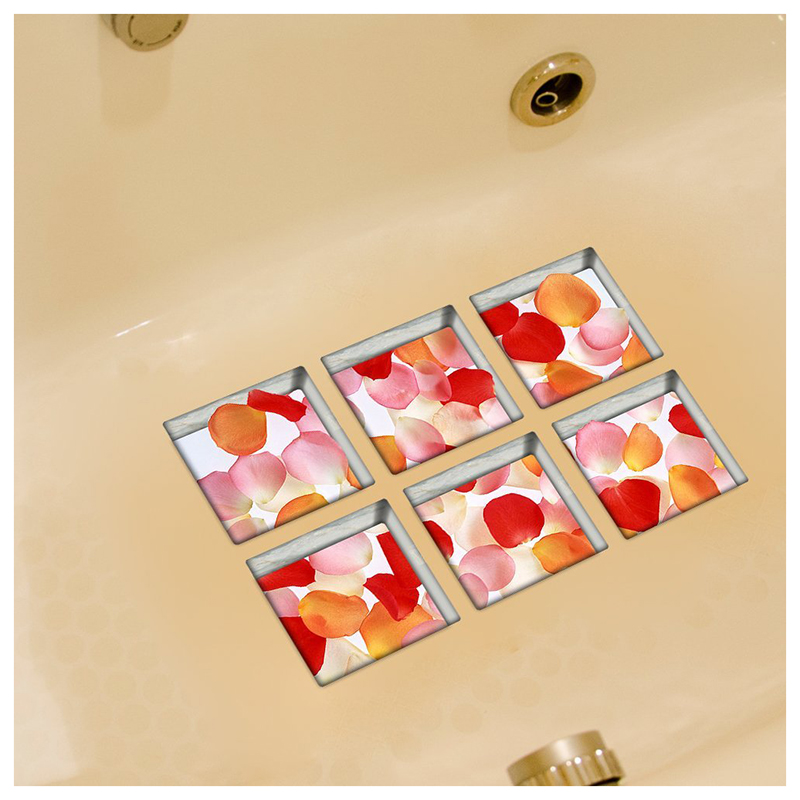 Anti-Slip-Bathtub-Tub-Stickers-Tub-Decals-Tub-Appliques-Rose-Petals-I6G9 thumbnail 2