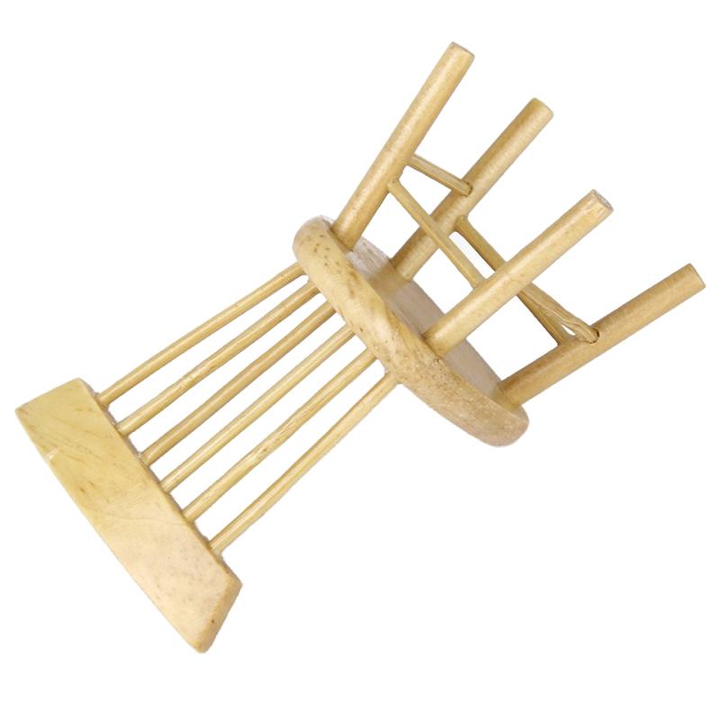 1-12-Casa-De-Munecas-Muebles-De-Comedor-En-Miniatura-Silla-E1C5 miniatura 3