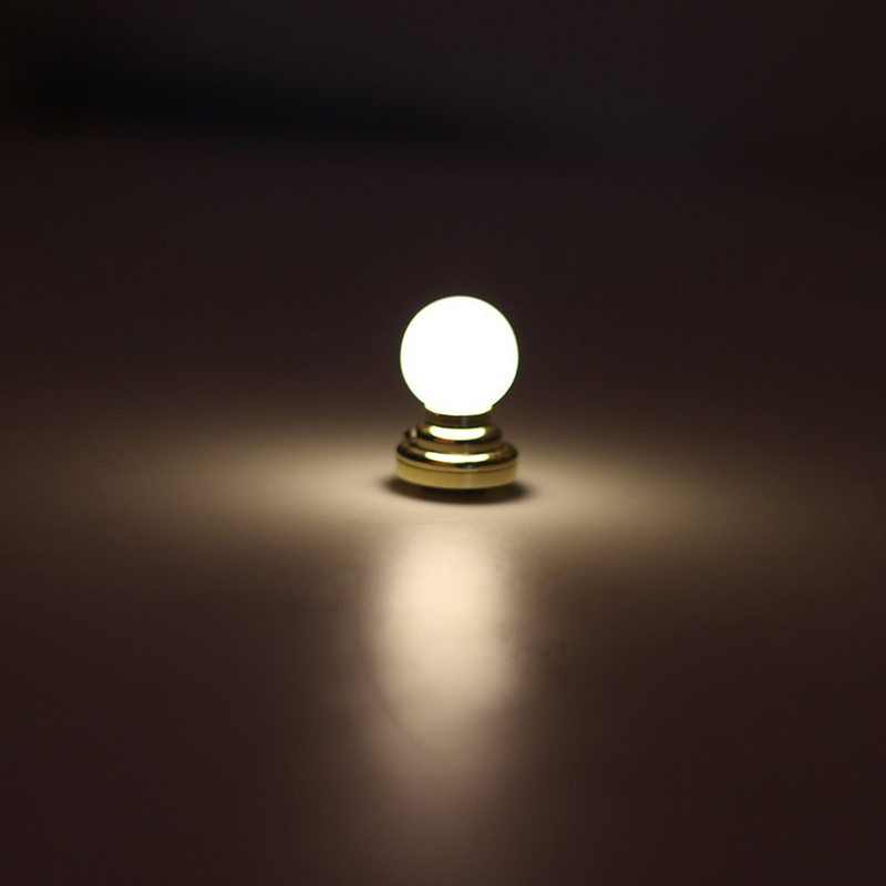 Details About 1 12 Dolls House Miniature Globe White Ceiling Led Light Lighting Lamp With B R8