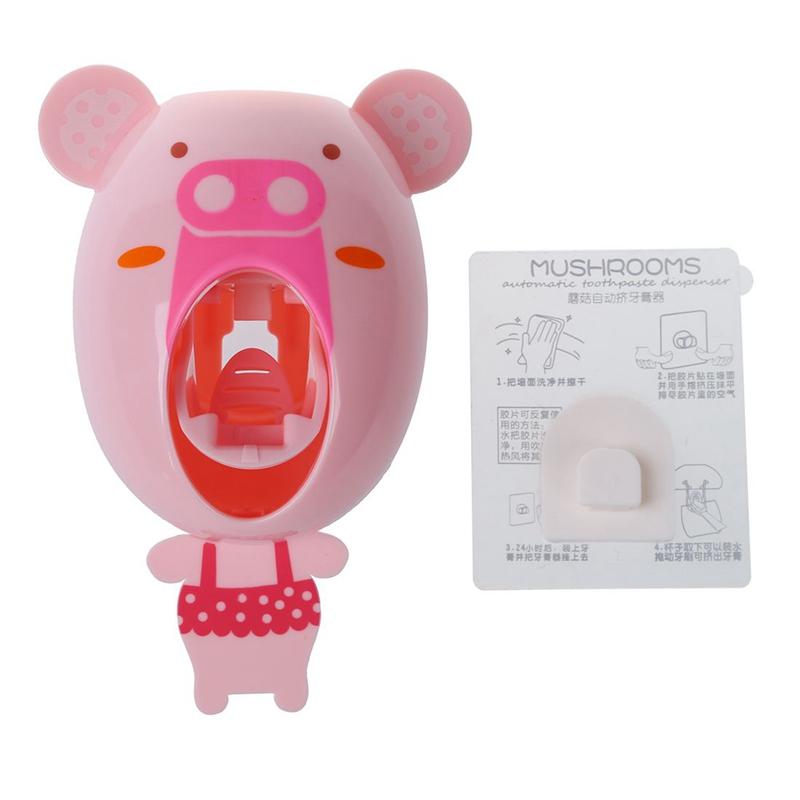 Distributeur-automatique-de-dentifrice-Porte-brosses-A-dents-pour-enfants-B-N3L4 miniature 6