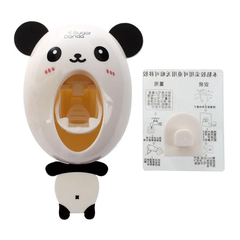 Distributeur-automatique-de-dentifrice-Porte-brosses-A-dents-pour-enfants-B-G8T4 miniature 5
