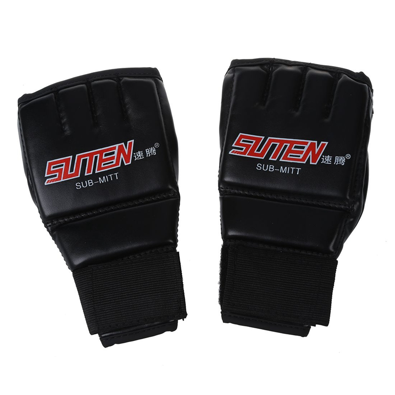 Boxing Gloves Half Mitts Mitten for MMA Muay Thai Training Punching Sparring