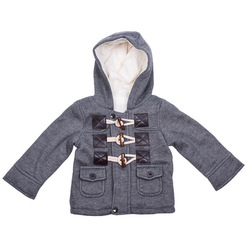 5b11302a0 Baby Boys Jacket Winter Clothes Outerwear Coat Cotton Thick Kids ...