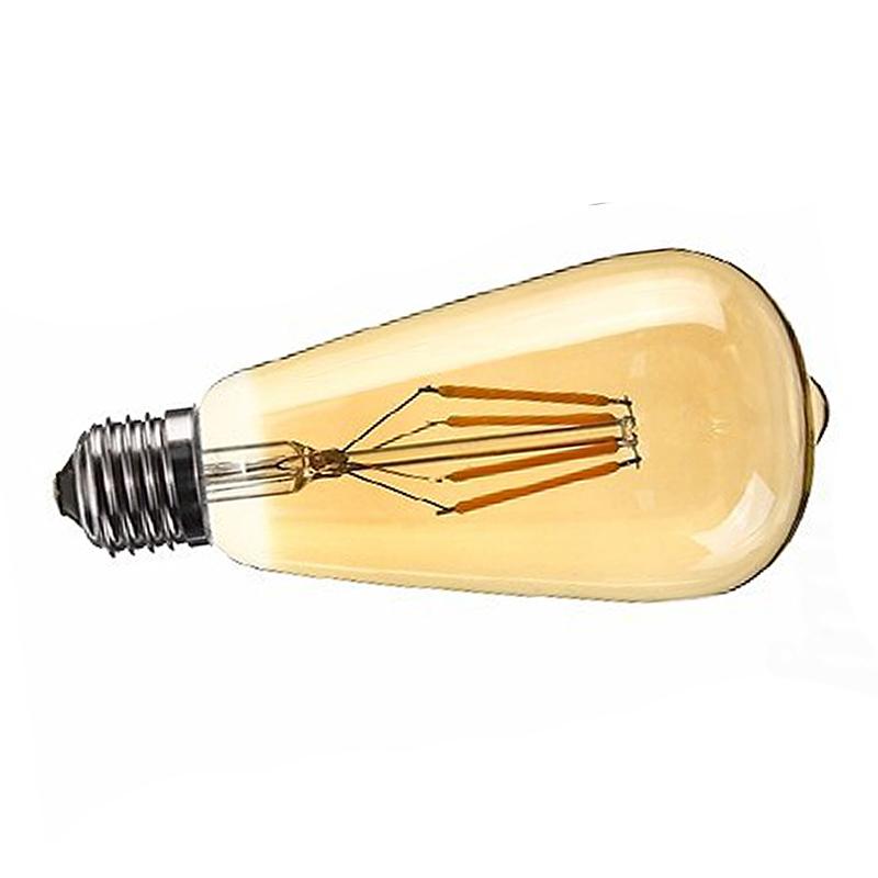 Dimmable-E27-Edison-Retro-Vintage-Filament-St64-Cob-Ampoule-Led-Couleur-de-C8J2 miniature 3