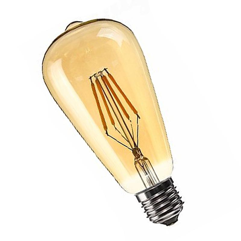 Dimmable-E27-Edison-Retro-Vintage-Filament-St64-Cob-Ampoule-Led-Couleur-de-C8J2 miniature 4