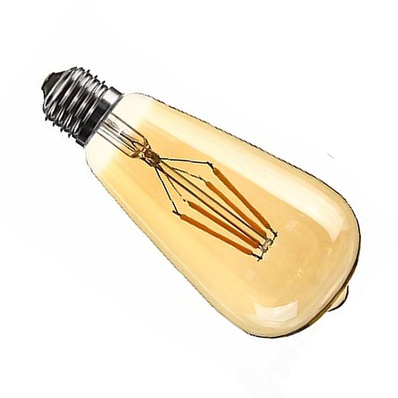 Dimmable-E27-Edison-Retro-Vintage-Filament-St64-Cob-Ampoule-Led-Couleur-de-C8J2 miniature 5