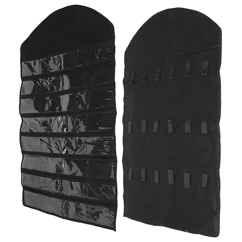 32-Pocket-Double-Sided-Door-Hanging-Jewelry-Organizer-Storage-Bag-Holder-Po-M9C1