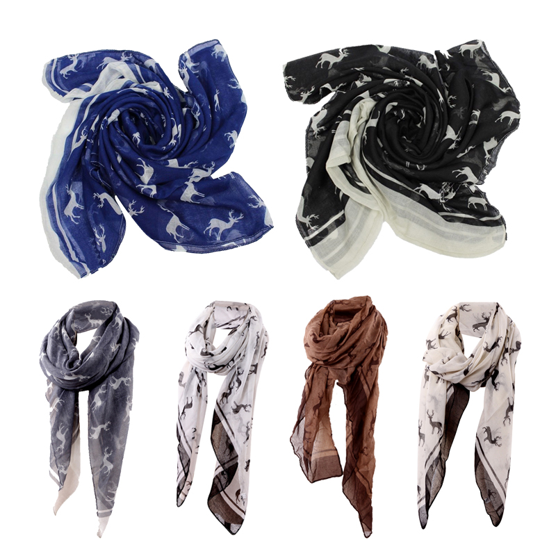 Fashion-Women-039-s-Animal-Deer-Print-Long-Shawl-Infinity-Loop-Cowl-Scarf-Lady-Shaw1
