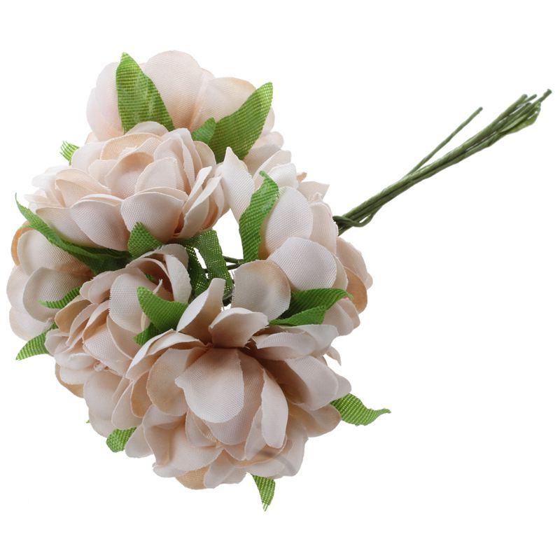 6PCS-Lot-DIY-Nouvelle-Fleur-De-Soie-Rose-Artificielle-Bouquet-De-Fleurs-Pou-L1X7 miniature 2