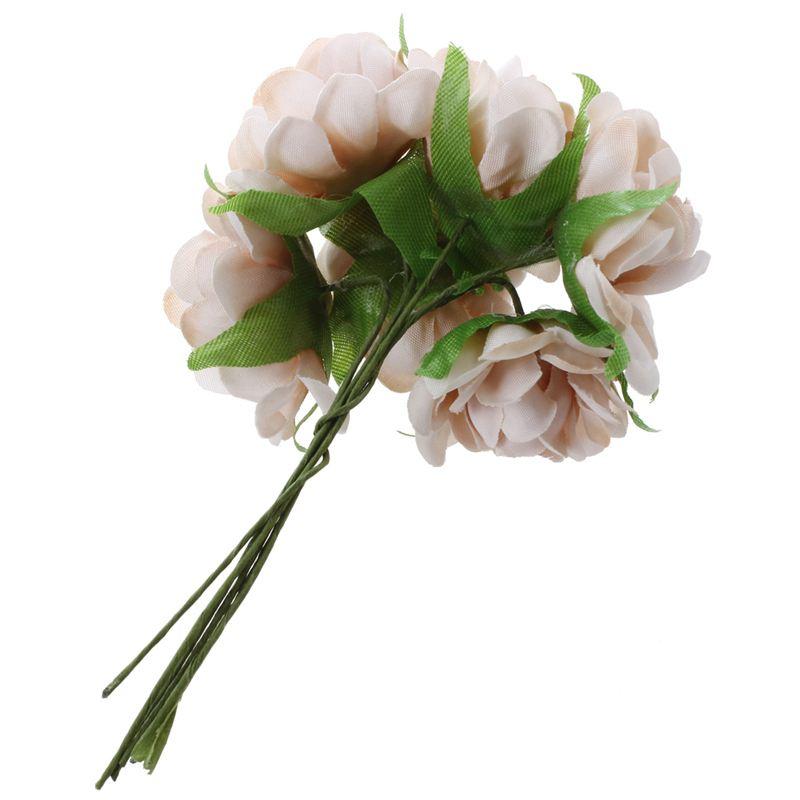 6PCS-Lot-DIY-Nouvelle-Fleur-De-Soie-Rose-Artificielle-Bouquet-De-Fleurs-Pou-L1X7 miniature 3