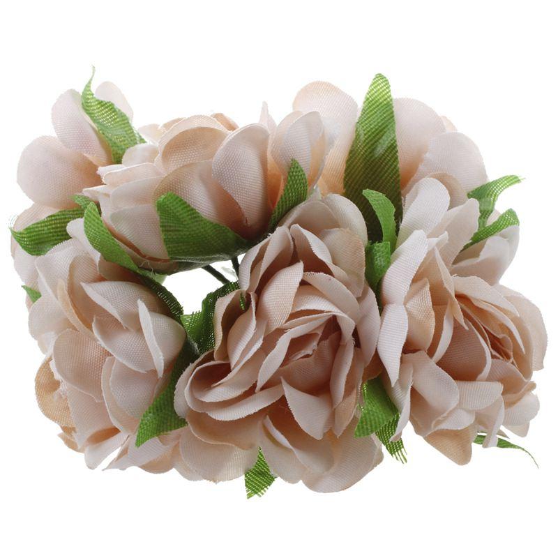 6PCS-Lot-DIY-Nouvelle-Fleur-De-Soie-Rose-Artificielle-Bouquet-De-Fleurs-Pou-L1X7 miniature 4