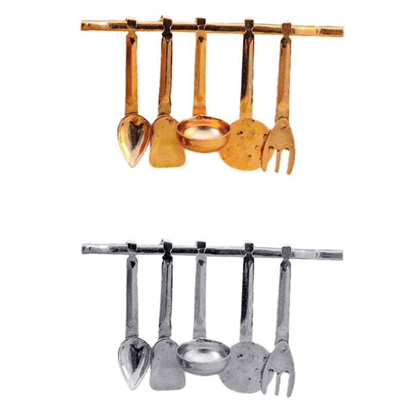 1 Set 1 12 Dollhouse Miniature Mini Kitchen Ware Spatula Spoon Tools