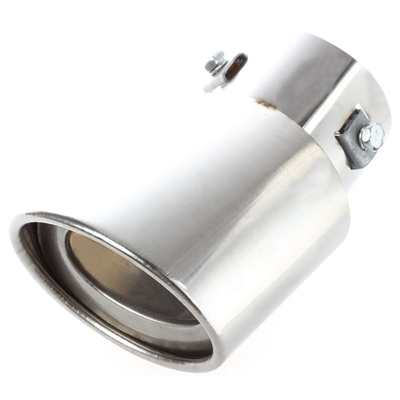 Image is loading 5X-Universal-Drop-Down-Car-Exhaust-Tail-Pipe-  sc 1 st  eBay & 5X(Universal Drop Down Car Exhaust Tail Pipe Silencer Muffler Tip ...