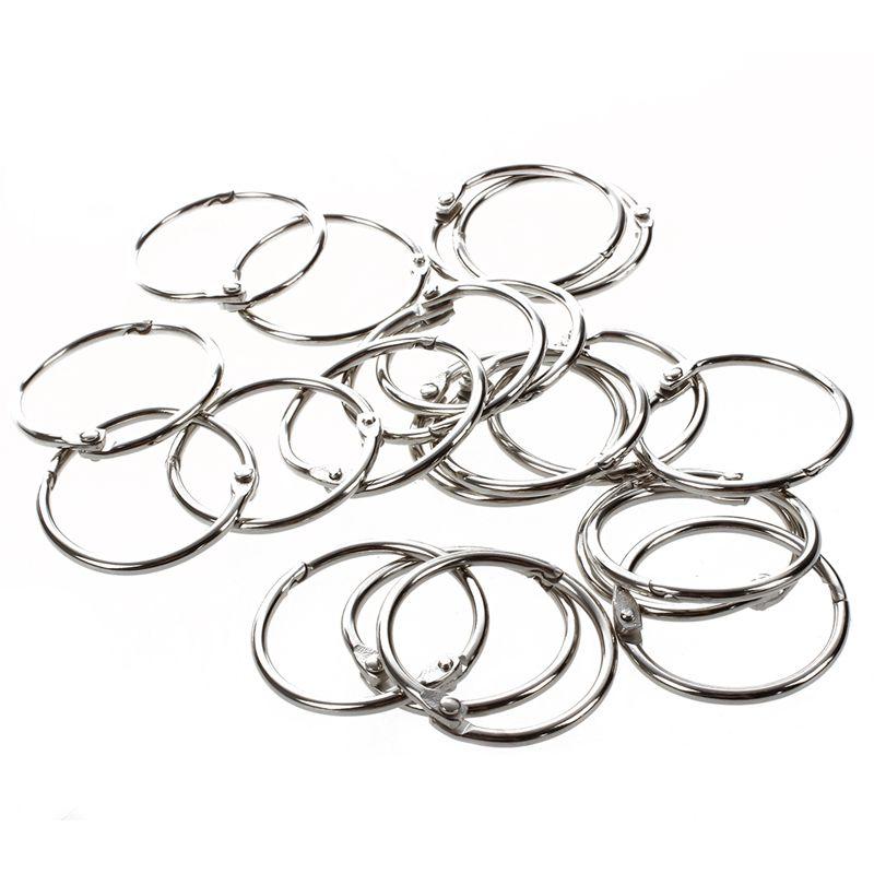 20 Pcs Scrapbooking Metal 3 2cm Od Loose Leaf Binder Ring Key Ring