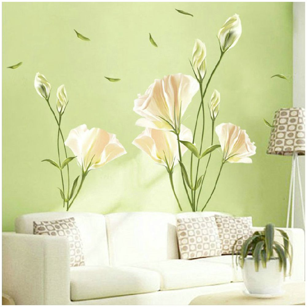 Beautiful Lily Flower Wall Stickers Art Decal Murals Removable s for ...