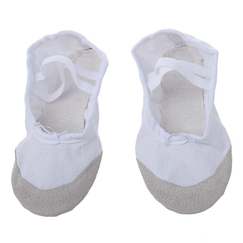 1-Pair-of-Leather-Canvas-Adult-Ballet-Dance-Shoes-Practice-Ballet-Dance-s-C7U8 thumbnail 4