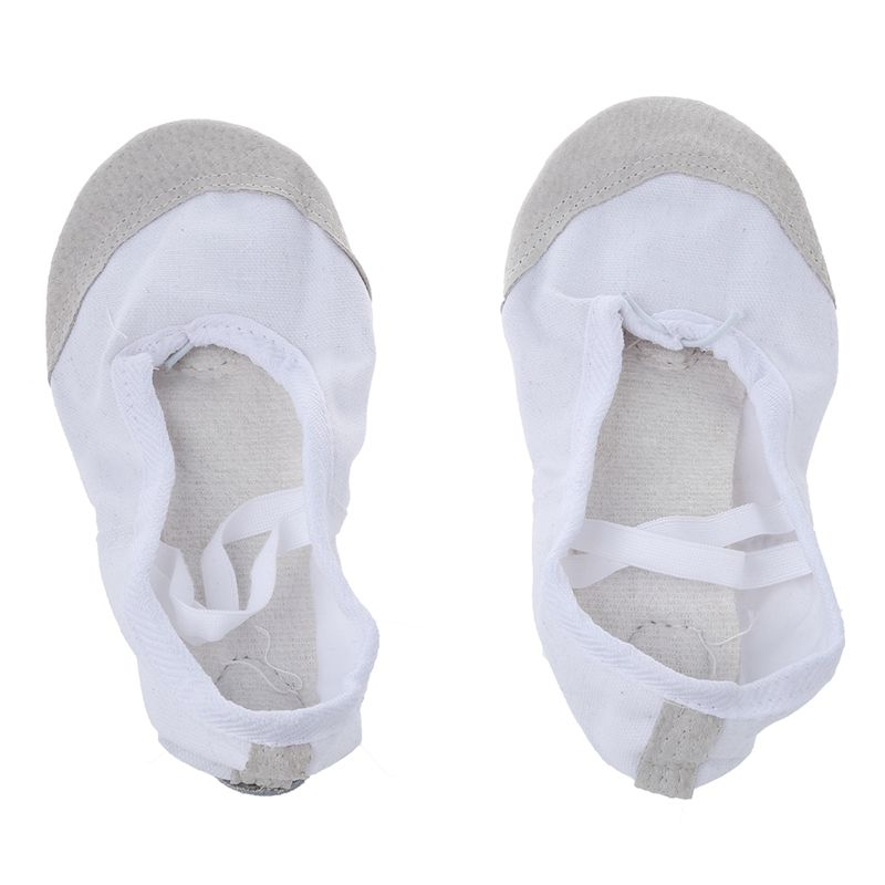 1-Pair-of-Leather-Canvas-Adult-Ballet-Dance-Shoes-Practice-Ballet-Dance-s-C7U8 thumbnail 5