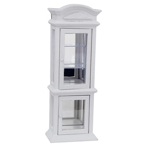 10X (1 12  Mini bambola House bianca Finestra Trasparente Armadio Vetrina P9H7)  in vendita online