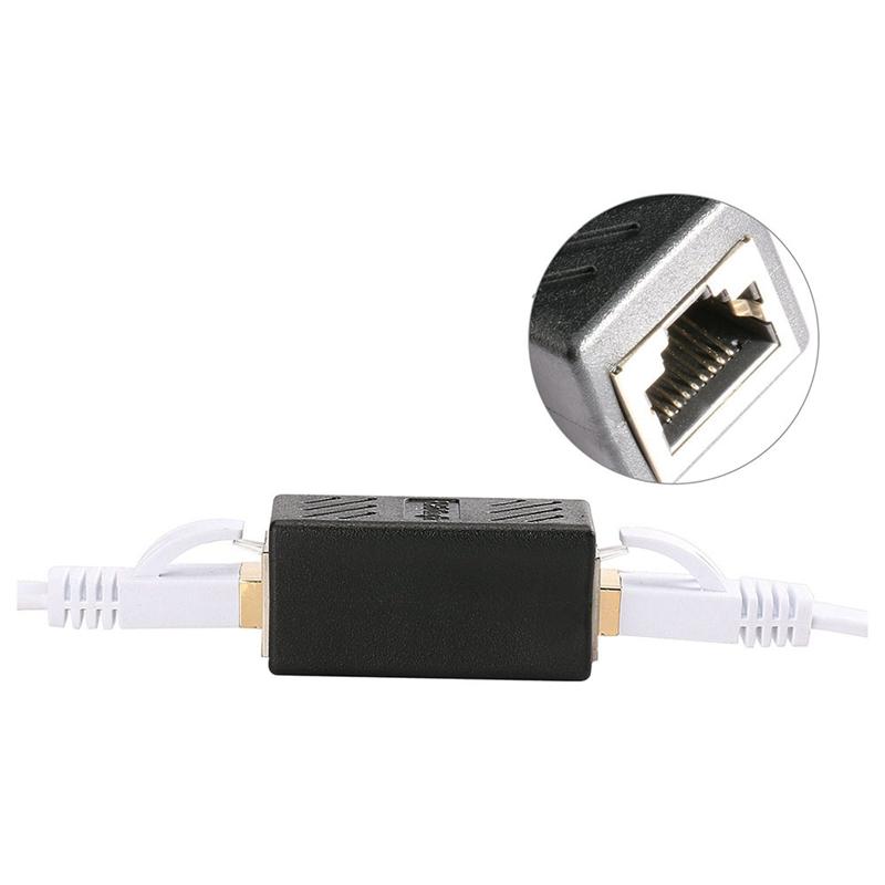 1X-Adaptateur-Ethernet-Rj45-Coupleur-En-Ligne-Blinde-Pour-Connecteur-C2F8 miniature 4