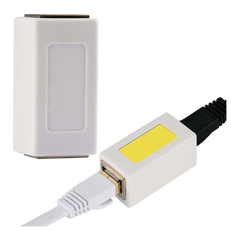 1X-Adaptateur-Ethernet-Rj45-Coupleur-En-Ligne-Blinde-Pour-Connecteur-C2F8 miniature 8