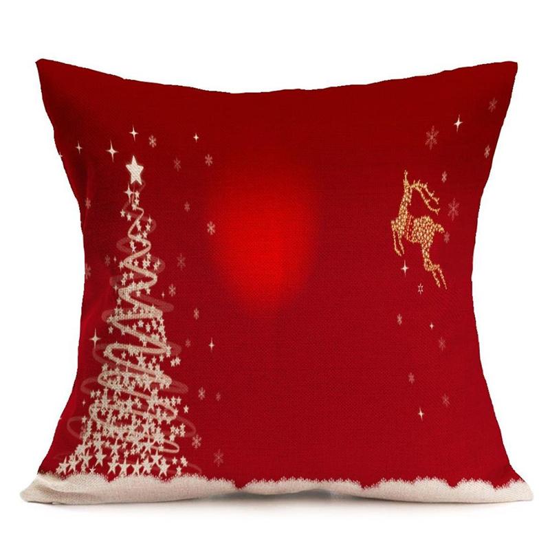 Como Hacer Fundas Para Cojines De Sofa.Detalles De Funda De Almohada Para Cojines Del Sofa Tema De Navidad Decoracion De Cojin B8