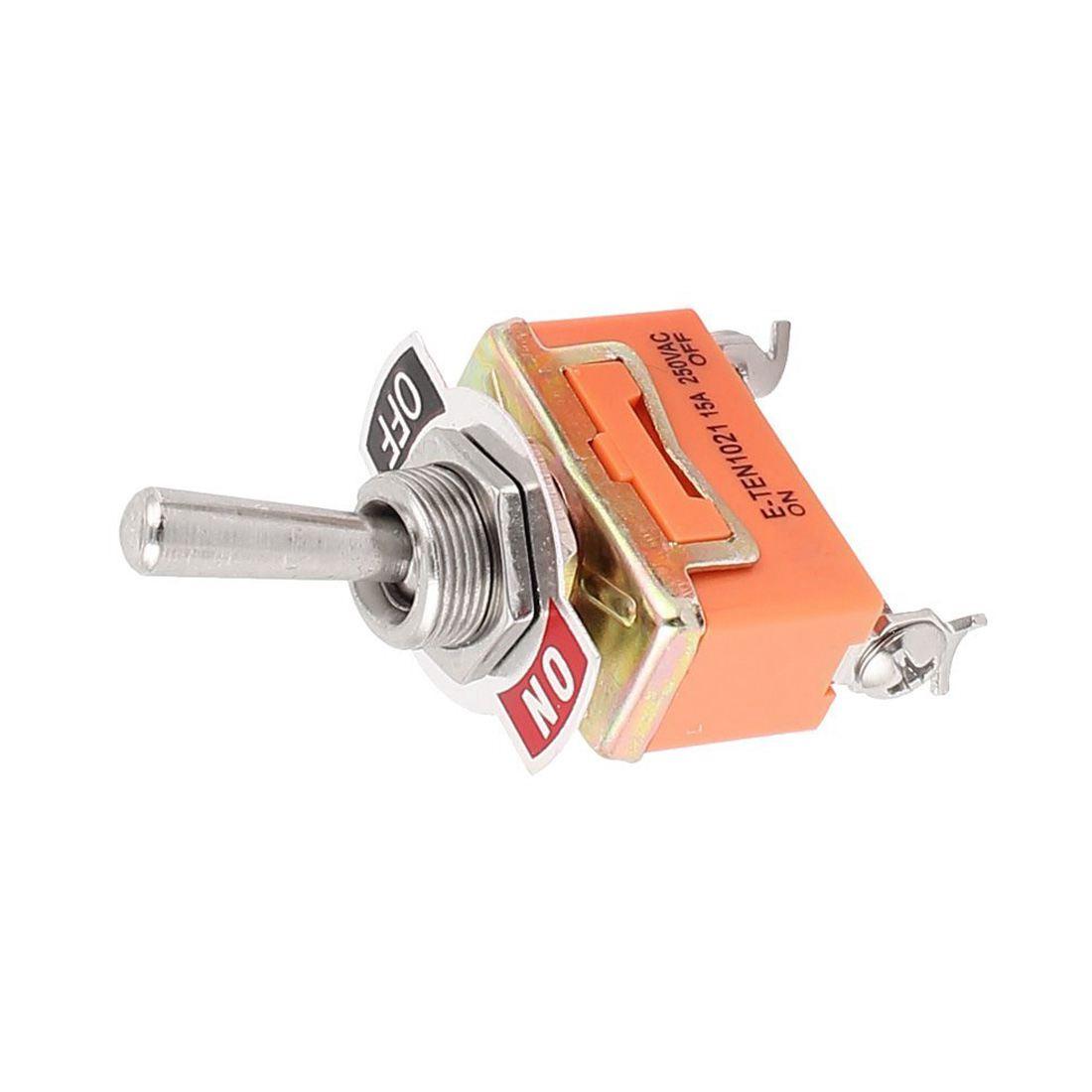 Fp Ac 250v 15a Spst On Off 2 Pin Latching Miniature Toggle Switch Onoff 2pcs E5d6 O8q4