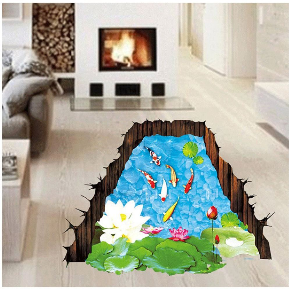 3x 3d fish window wall decals stickers murals for bathroom for 3d wall murals for kids