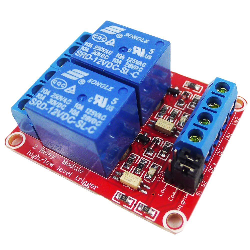 Dc 12v 2 Channel Relay Module With Optocoupler H L Level Triger For Normally Open Closed 112v 2ch Note Light Shooting And Different Displays May Cause The Color Of Item In Picture A Little From Real Thing
