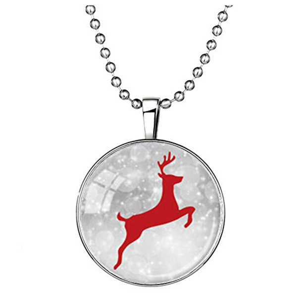 Alloy-Charms-Animal-Running-Elk-Deer-Snow-Time-Gemstone-Christmas-Pendant-J9W1
