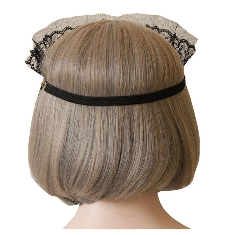 Women-Gothic-Black-Lace-Veil-Half-Face-Eye-Mask-Stretch-Headband-Costume-L6H2